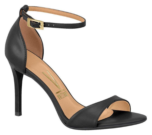 Vizzano 6306-106 High Heel Sandal in Black Napa