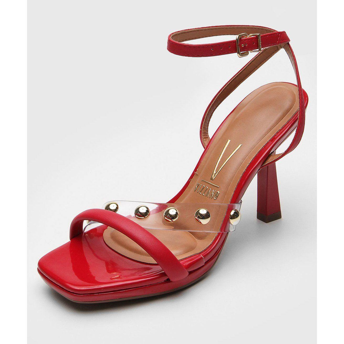 Vizzano 6437-103 High Heel Sandal in Red Napa