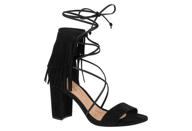 Beira Rio 8284-310 Fringed and Strappy Sandal in Black