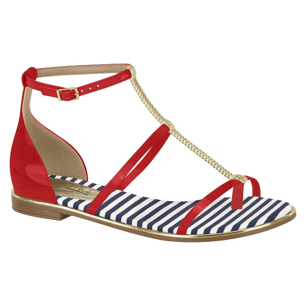 Beira Rio Flat Sandal 8289-103 in Red