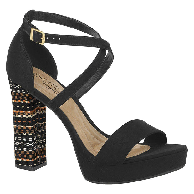 Beira Rio 8290-202 High Heel Platform Sandal in Black Sandals Beira Rio