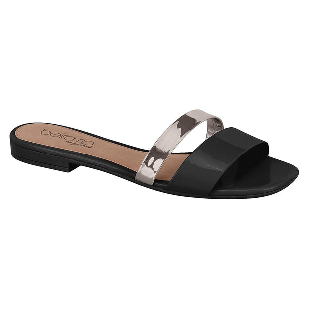 Beira Rio Summer Slip-On 8328-105 in Black / Graphite