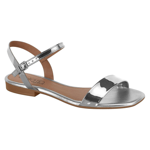 Beira Rio 8328-106 Flat Sandal in Silver