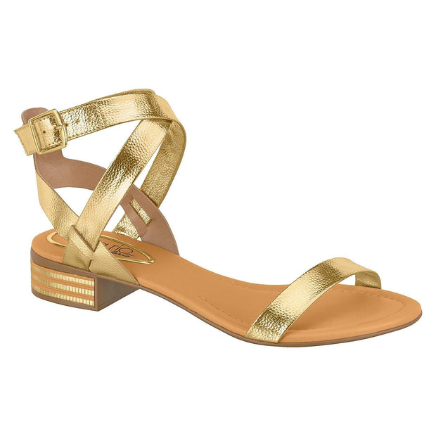 Beira Rio 8331-104 Strappy Sandal in Gold Napa