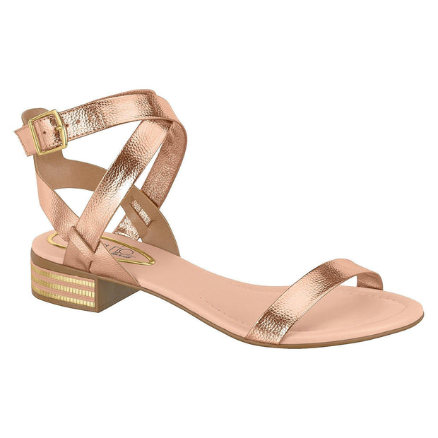 Beira Rio 8331-104 Strappy Sandal in Rose Gold Napa