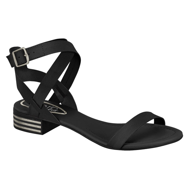 Beira Rio 8331-104 Strappy Sandal in Black Napa