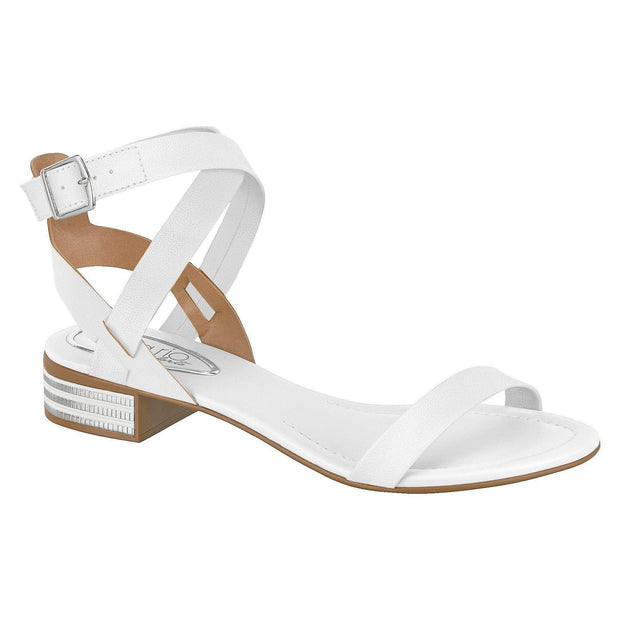 Beira Rio 8331-104 Strappy Sandal in White Napa