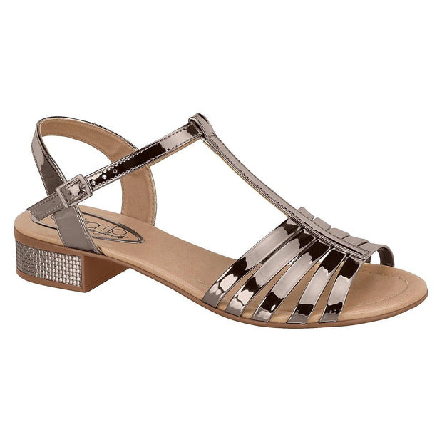 Beira Rio 8331-205 Strappy T-Bar Sandal in Graphite