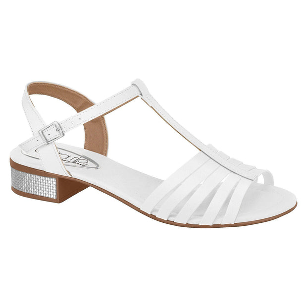 Beira Rio 8331-205 Strappy T-Bar Sandal in White Napa