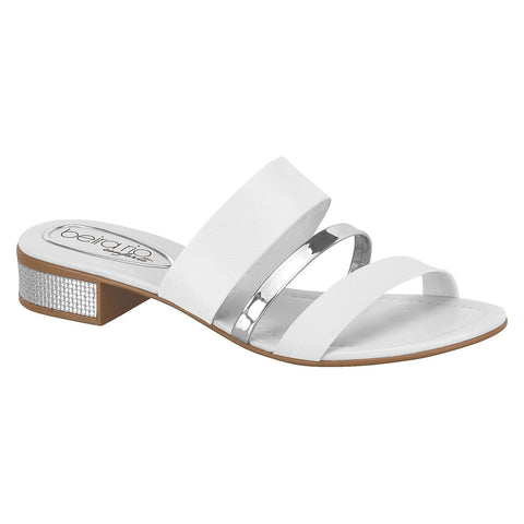 Beira Rio 8331-208 Slip-on in White/Silver
