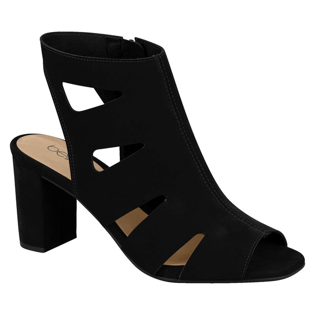 Beira Rio 8399-102 Block Heel in Black Nubuck