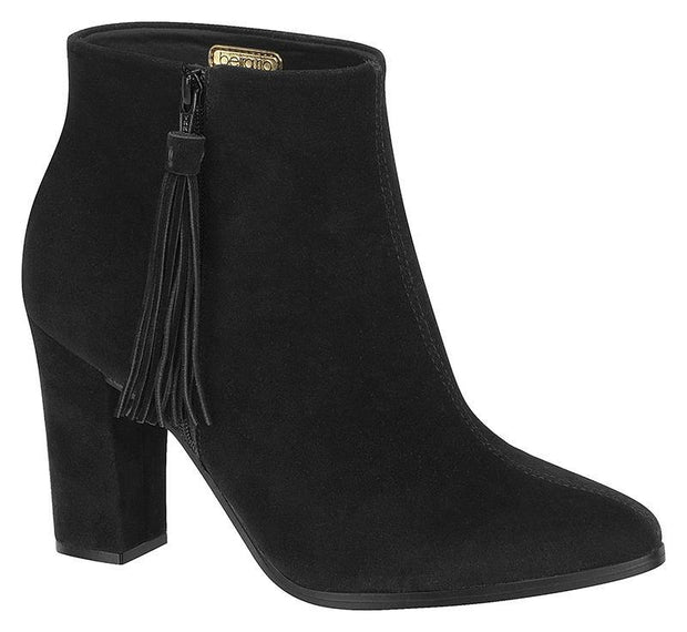 Beira Rio 9043-100 Ankle Boot in Black Nubuck