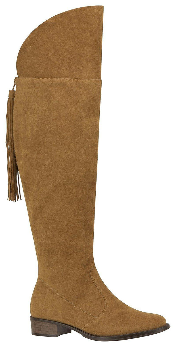 Beira Rio 9045-104 Riding Boot in Caramel Nubuck