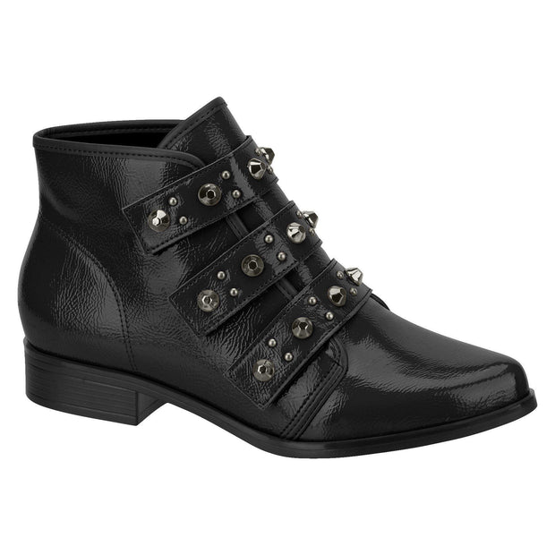 Beira Rio 9055-104 Ankle Boot in Black Patent Boots Beira Rio