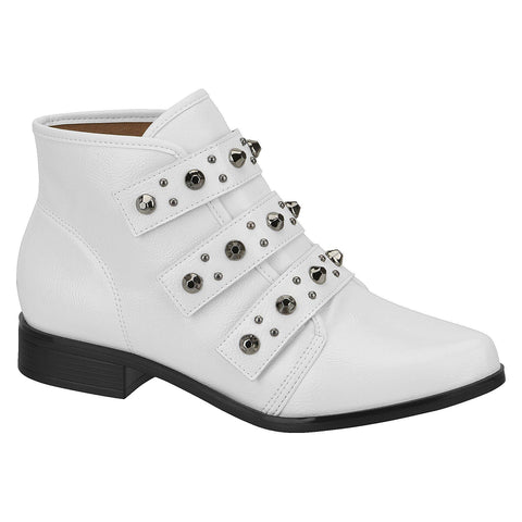 Beira Rio 9055-104 Ankle Boot in White Patent