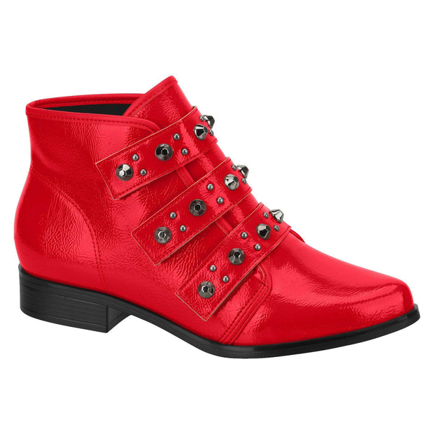 Beira Rio 9055-104 Ankle Boot in Red Patent Boots Beira Rio