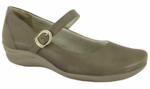 Comfortflex 14-50302 Mary-Jane Flat in Hazel Shiny Nobuck
