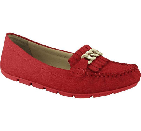 Comfortflex 15-73305 Flat Moccassin in Red Nubuck