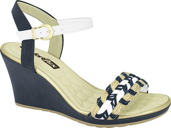 Comfortflex 16-53306 Wedged Sandal in Navy / White