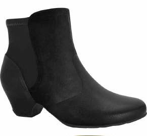 Comfortflex 16-60301 Low Heel Ankle Boot in Black Napa