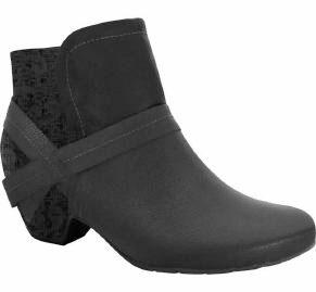 Comfortflex 16-60302 Low Heel Ankle Boot in Black Napa