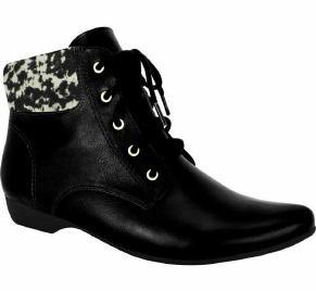 Comfortflex 16-90305 Flat Ankle Boot in Black Napa