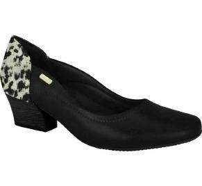 Comfortflex 16-95301 Low Heel Pump in Black / Multi Black Cow