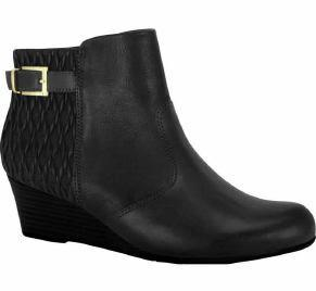 Comfortflex 16-99331 Wedged Ankle Boot in Black Napa