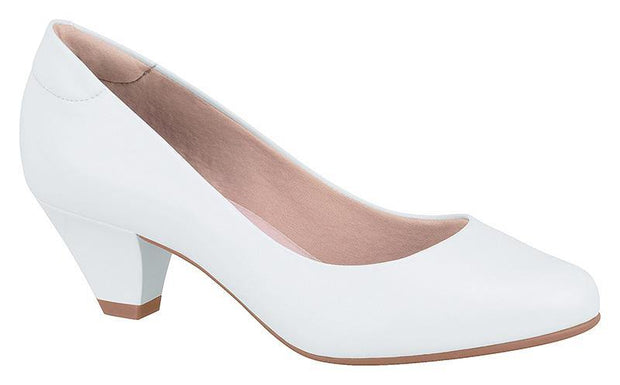 Modare 7005-100 Low Heel Pump in White Napa