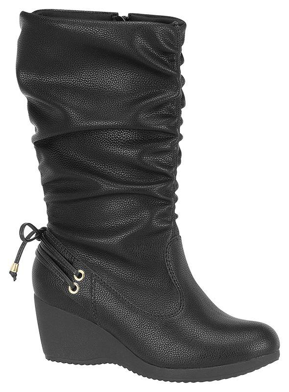 Modare 7047-103 Mid-calf Wedge Boot in Black