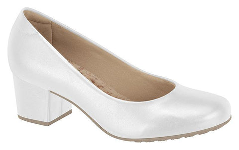 Modare 7300-100 Low Heel Pump in White Napa