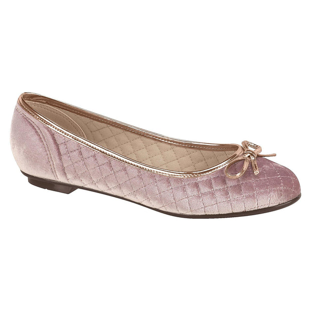 Moleca 5027-666 Classic Flat in Rose Blush Velvet