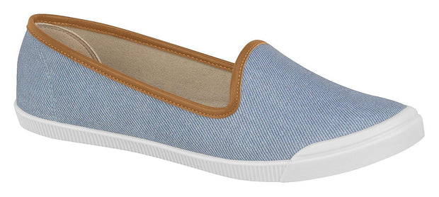 Moleca 5109-412 Canvas Slip-on Flat in Gold