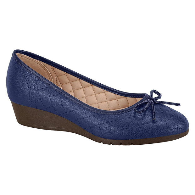 Moleca 5156-405 Low Heel Wedge in Navy Napa Floater Wedges Moleca