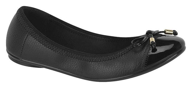 Moleca 5196-325 Elasticated Ballet Flat in Black Napa Flats Moleca