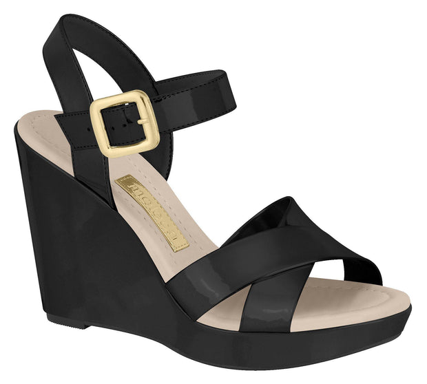 Moleca 5221-704 High Heel Wedge in Black Patent
