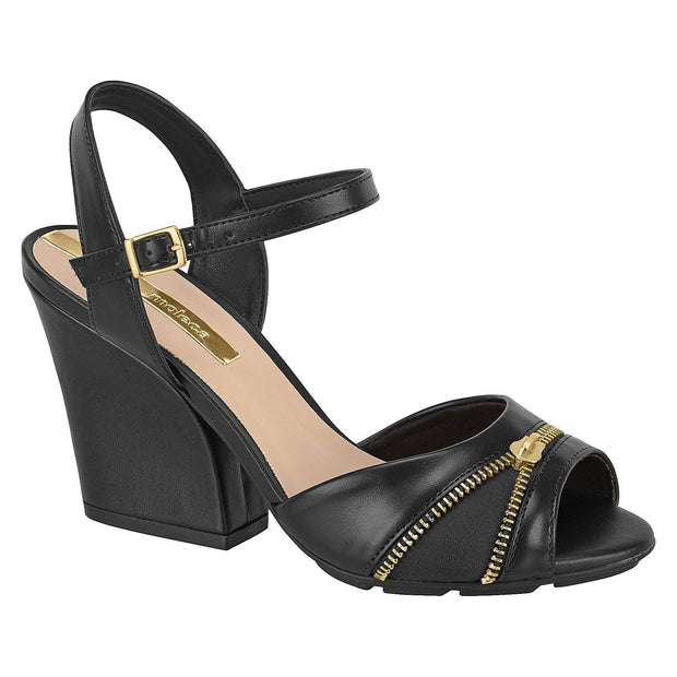Moleca 5222-342 Block Heel in Black