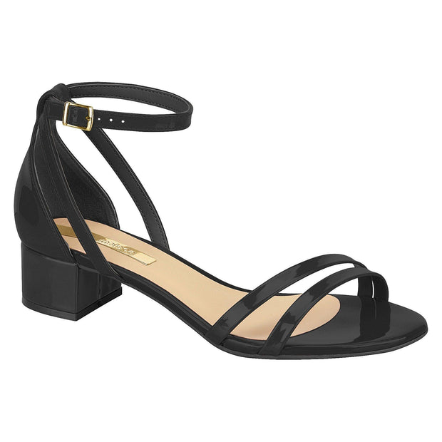 Moleca 5259-518 Low Heel Sandal in Black Patent
