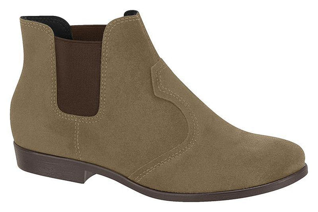 Moleca 5304-101 Flat Ankle Boot in Grey Suede