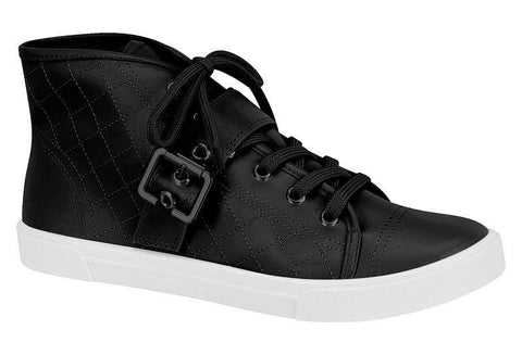Moleca 5305-101 High Top Sneaker in Black