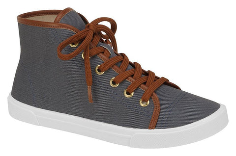 Moleca 5305-106 High Top Denim Sneaker
