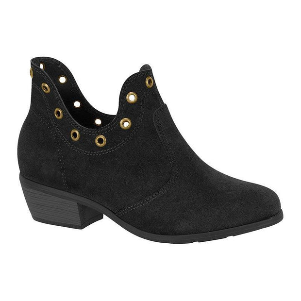 Moleca 5309-100 Ankle Boot in Black Suede Boots Moleca