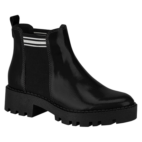 Moleca 5331-100 Ankle Boots in Black and White