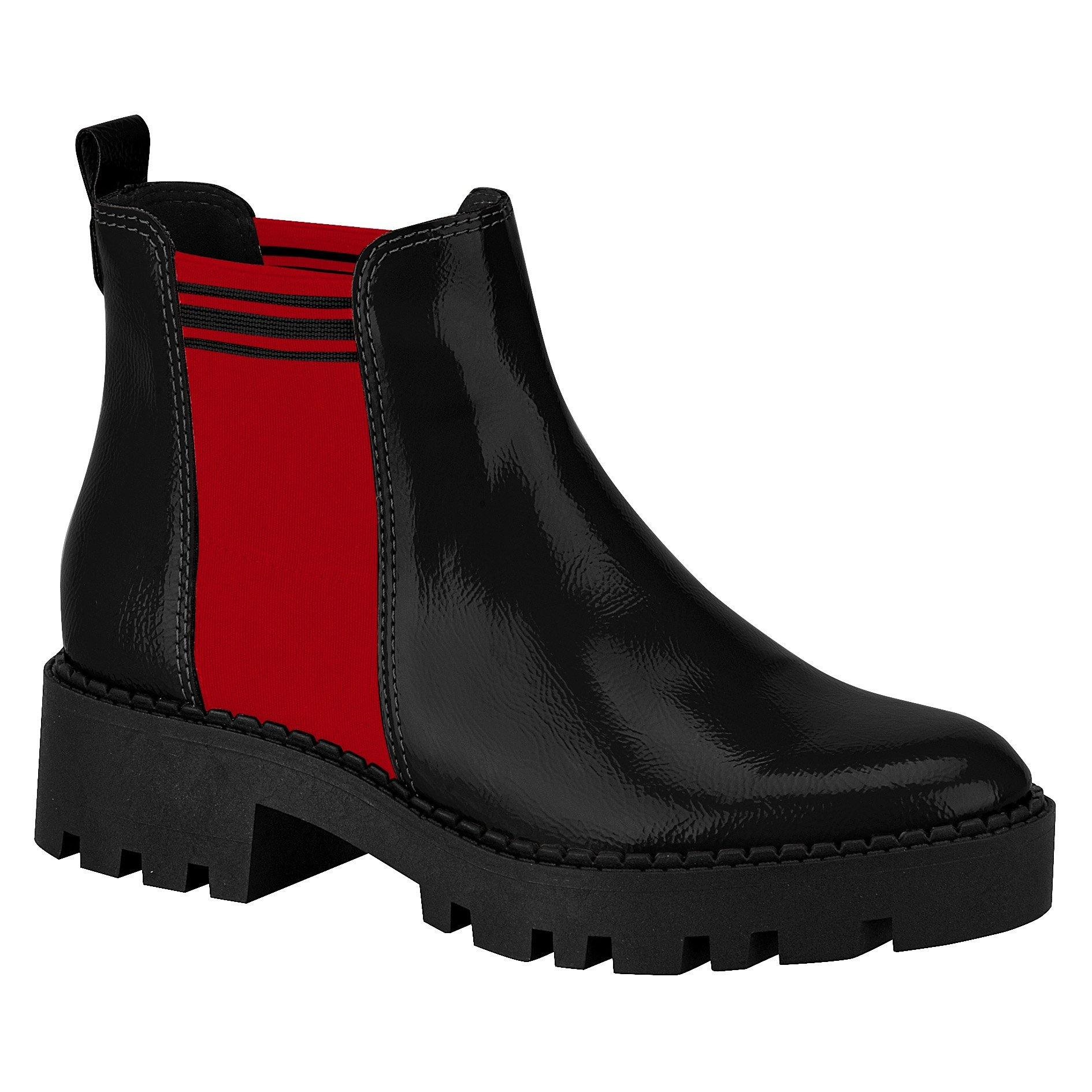 Moleca 5331-100 Ankle Boots in Black and Red
