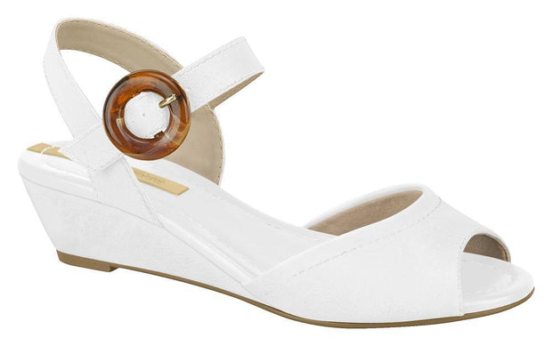 Moleca 5403-102 Low Heel Wedge in White