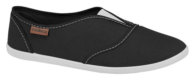 Moleca 5602-100 Slip-on Canvas Flat in Black