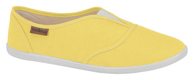 Moleca 5602-100 Slip-on Canvas Flat in Yellow