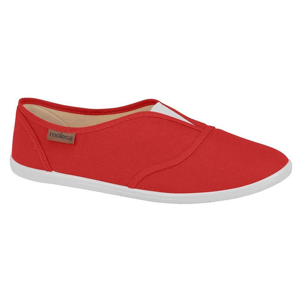 Moleca 5602-100 Slip-on Canvas Flat in Red