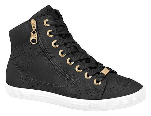 Moleca 5616-102 High Top Sneaker in Black