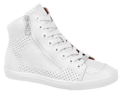 Moleca 5616-102 High Top Sneaker in White